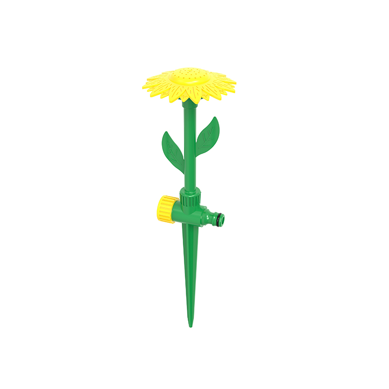 TS1046  Beautiful  Sunflower sprinkler With Spike