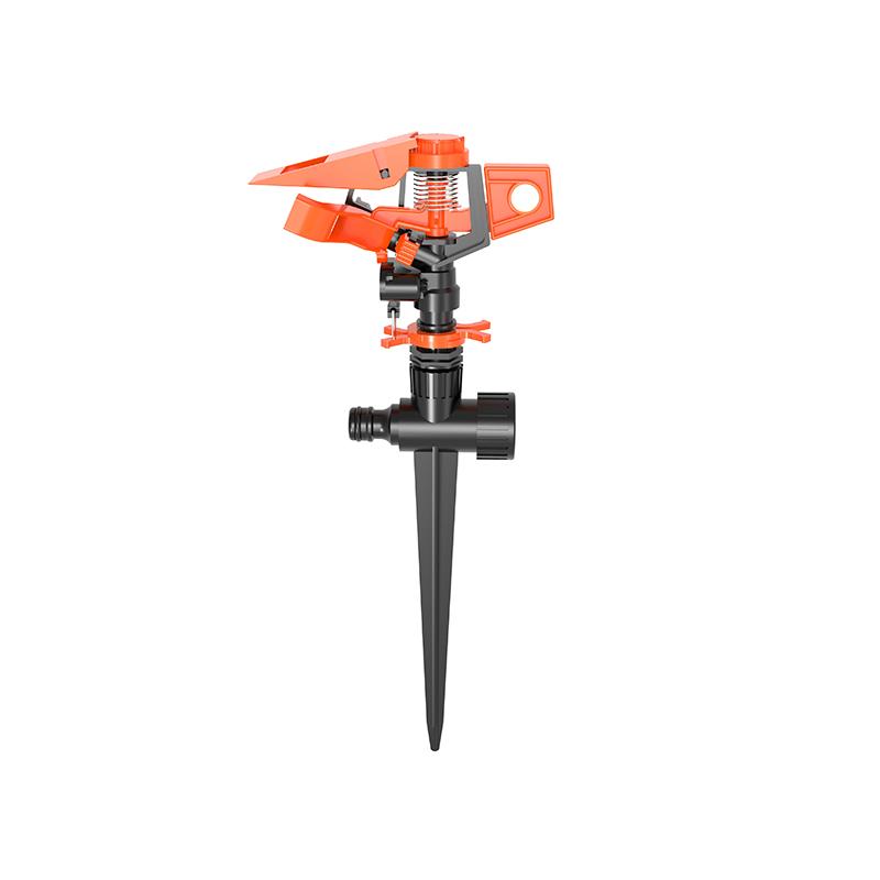 TS1064 Distance adjustment Plastic sprinkler with spike