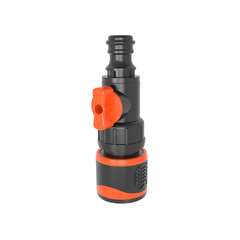 TS3050 Tool-end quick connector with manual valve with soft rubber cer